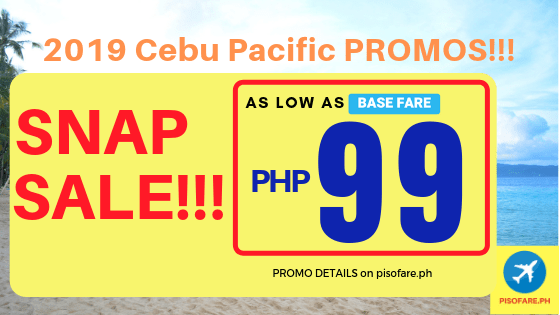 2019 Cebu Pacific promos snap sale tickets