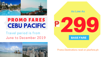 299 promo 2019 june to december cebu pacific