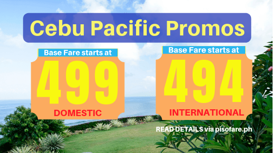 Cebu Pacific promo January 5 to 8