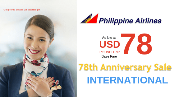 78 anniversary philippine airlines international