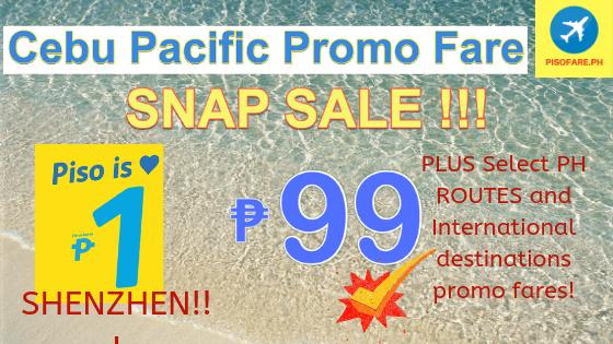 1 piso and 99 pesos promo manila 2019