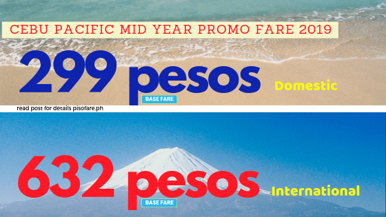 299 pesos and 632 pesos promo fare