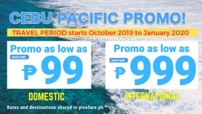 99 promo and 999 promo cebu pacific