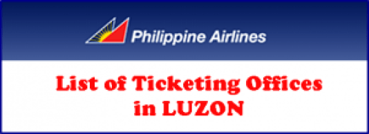 Philippine Airlines List of Luzon Ticket Offices