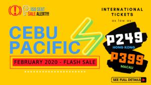 CEBU PACIFIC PISO SEAT SALE - FLASH SALE for February 2020