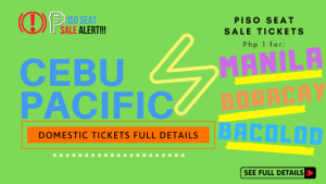 CEBU PACIFIC DOMESTIC PISO SEAT SALE PROMO FULL DETAILS