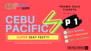 Cebu Pacific Super Seat Fest Piso Fare