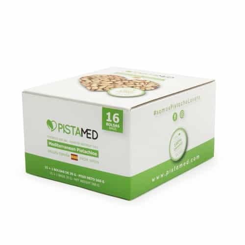 Caja de 16 bolsas pistachos PISTAMED