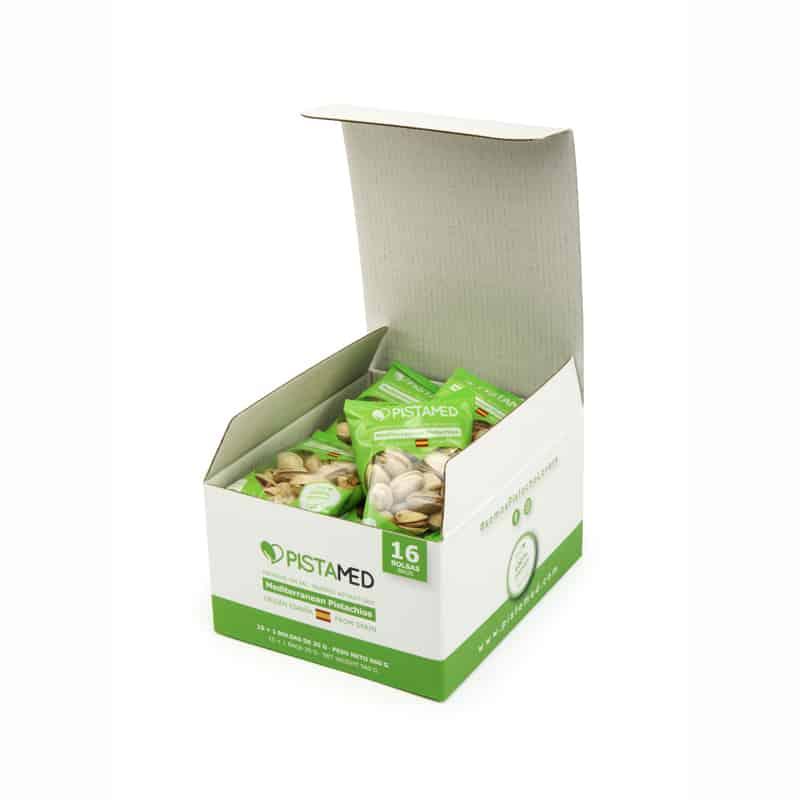 Caja 16 bolsas pistachos PISTAMED