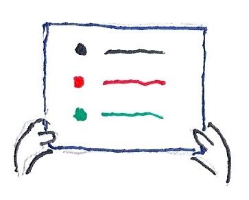 ejemplo de tarjeta con paso en la rueda del proyecto, bloqueo y acción
