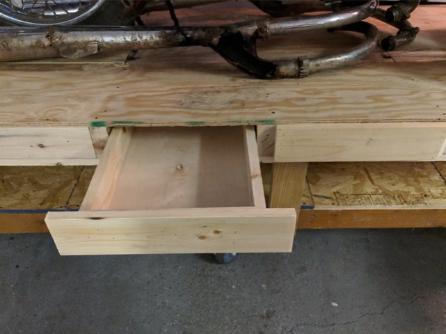 Drawer - Upcycled moto work table