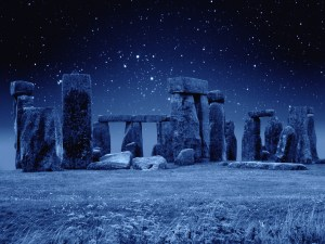 ca. 2800-1500 B.C., Wiltshire, England, UK --- Stonehenge at Night --- Image by © M. Dillon/CORBIS