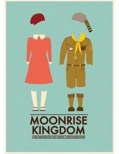 "Pôster minimalista do filme ""Moonrise Kingdom"""