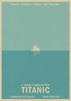 "Pôster minimalista do filme ""Titanic"""