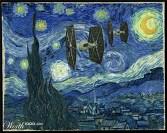 "Releitura de ""A noite estrelada"", de Vincent Van Gogh"
