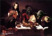 """Releitura de """"A ceia de Emaús"""", de Caravaggio"""