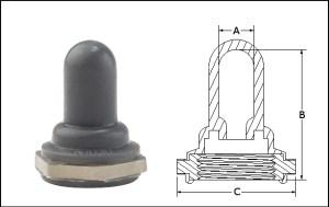 Capuchon pour interrupteurs à bacsuleavec joint intérieur secondaire