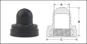 capuchon pour bouton-poussoir avec insert rond