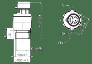 dimensions Capteur de pression EPT2105