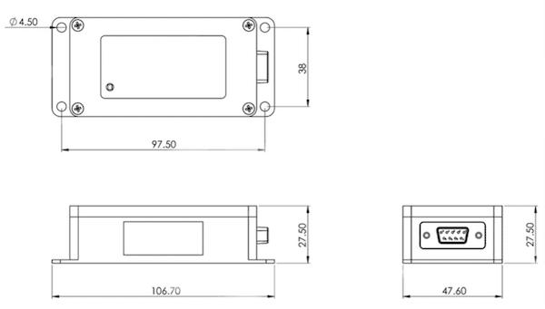dimensions du compas numérique magnetique