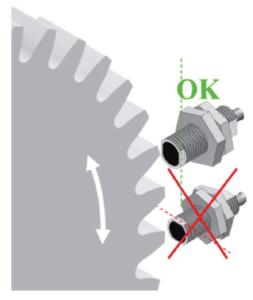 orientation capteur de vitesse
