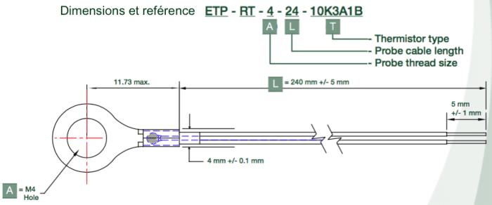 capteur a eillet ETP-RT-4-24-10K3A1B