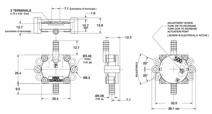 dimensions HPS500G-E