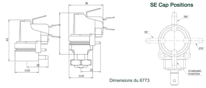 dimensions du manostat double membrane 6773