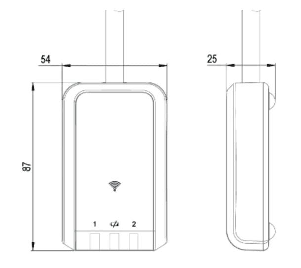 dimensions du recepteur 6311BLE002