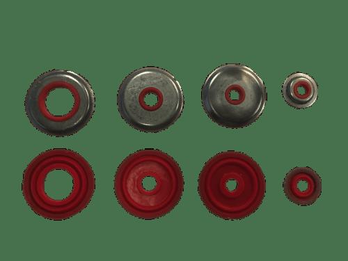 rondelles acier avec joint silicone