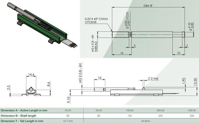 IPL-0100-203-3%-ST dimensions potentiomètre lineaire