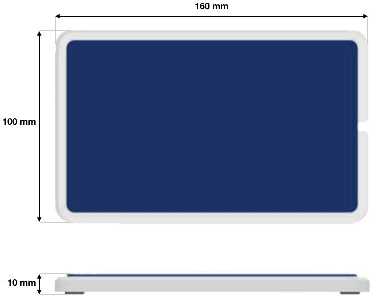 6250-0001 pédale plate bleue