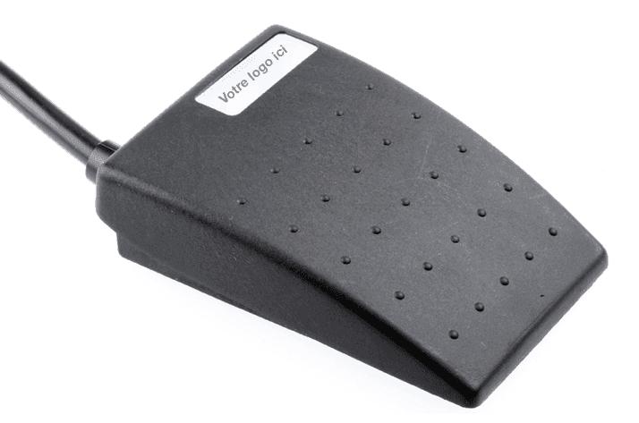 pédale médicale noire IP67 plate charnière avant 6224