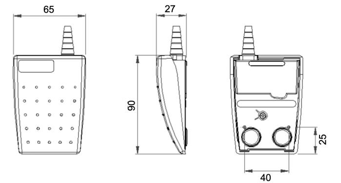 dimensions pédale lepton herga
