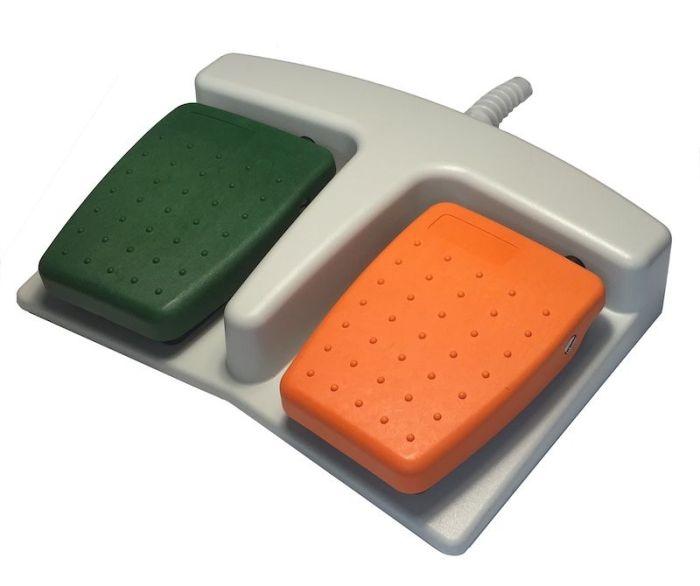 6225 pédale double orange et vert usb