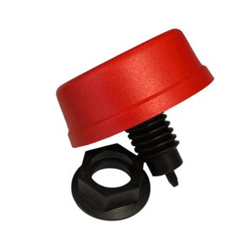 6433-0011 bouton poussoir rouge court