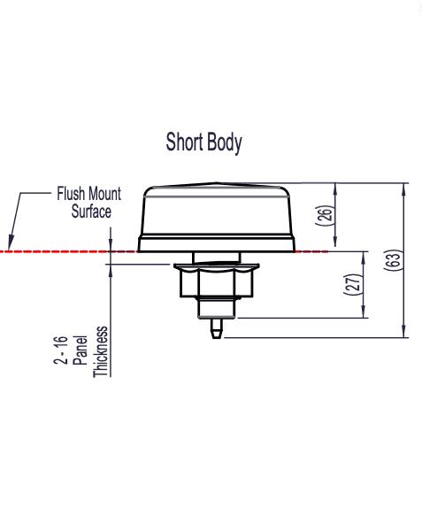dimensions bouton 6433 court
