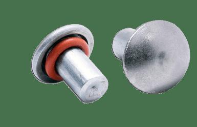 rivets étanches bombés avec joint silicone