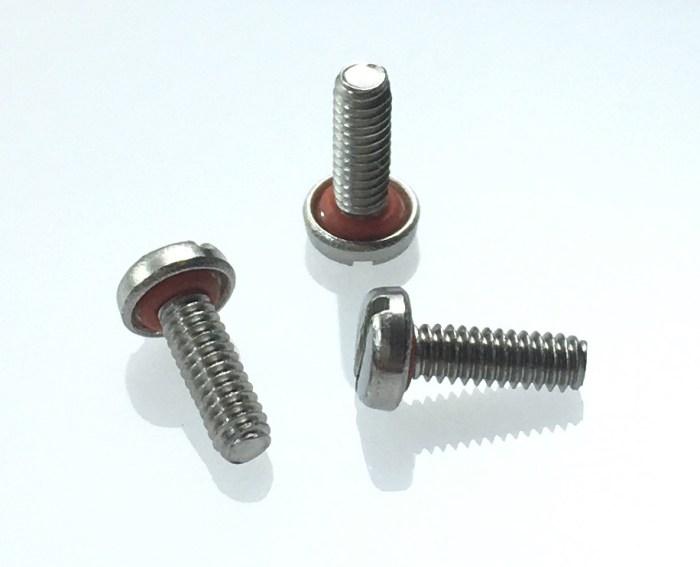 vis etancheite tete fendue joint silicone M2x20mm