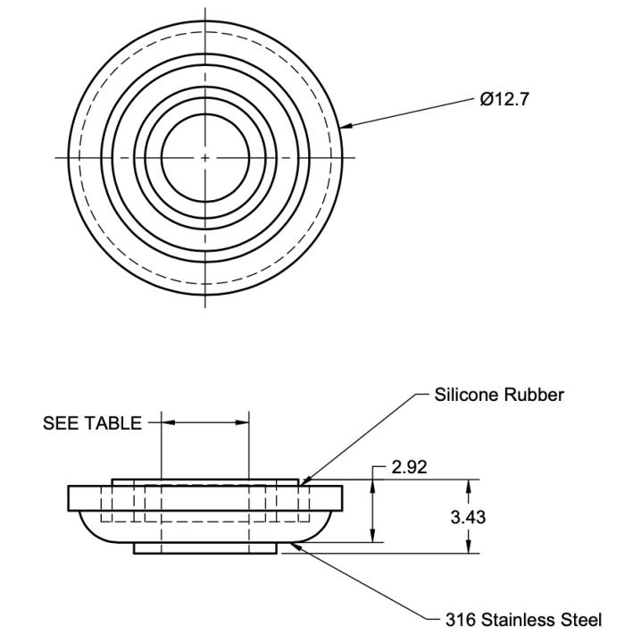 rondelle etanche diametre 12,7mm