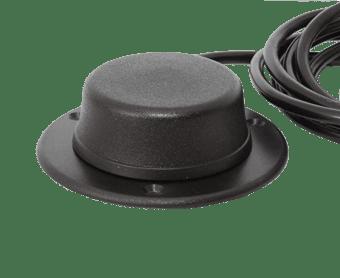 bouton poussoir avec base noir
