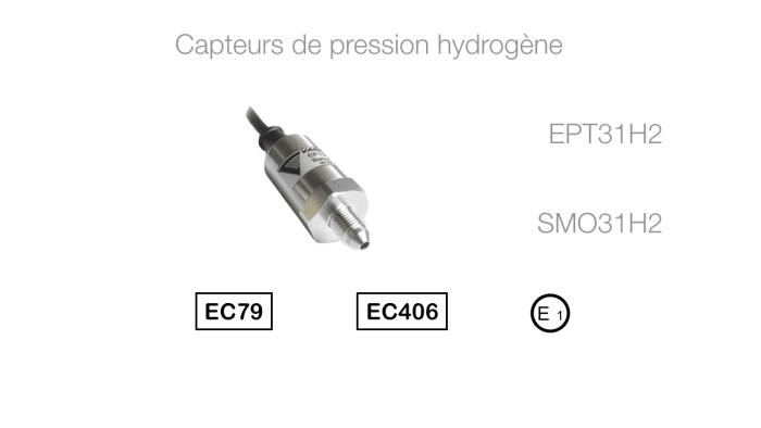 Capteur de pression hydrogène EPT31H2 SMO31H2