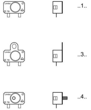 differents types d'accrochage interrupteur à temperature HT TB97