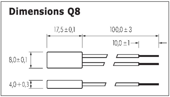 dimensions thermostat filaire avec rearmement manuel Q