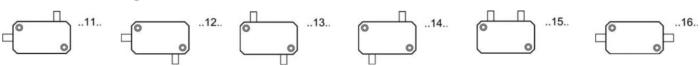 Interrupteur hautes températures différentes configurations