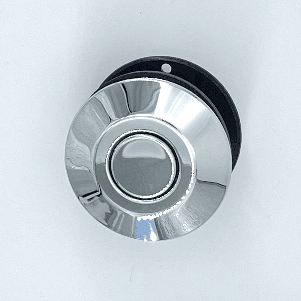bouton poussoir chromé pour spa