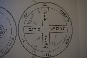 This is the 6th pentacle of Jupiter from the Key of Solomon.