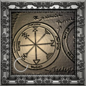 This is the 1st pentacle of Jupiter from the Key of Solomon.