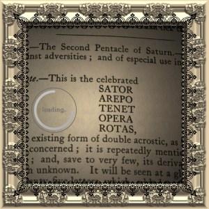 Det andra pentakel av Saturnus är känt som det berömda kvadraten Sator Arepo.