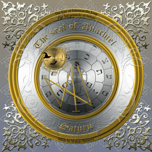 This is the seal of Anachiel/3rd pentacle of Saturn.